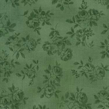 Lady Elizabeth Tonal Flowers green 17029-200