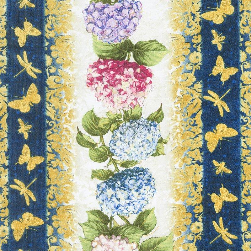 Hydrangea Dreams Repeating Stripe Multi 96436-145