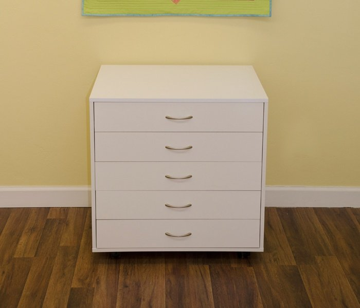 Mod 5 Drawer Cabinet White
