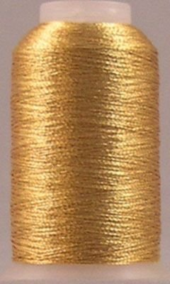 YLI Fine Metallic Nylon Thread T-24 500yds Gold
