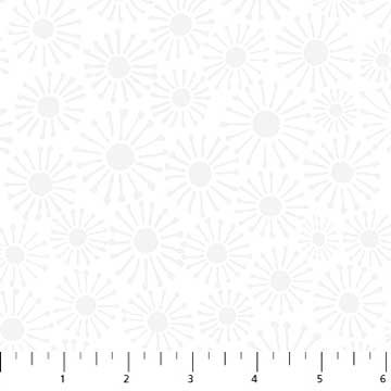 Simply Neutral White Tonal Daisies 22138-10