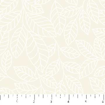 Simply Neutral Cream Tonal Leaves 22139-11