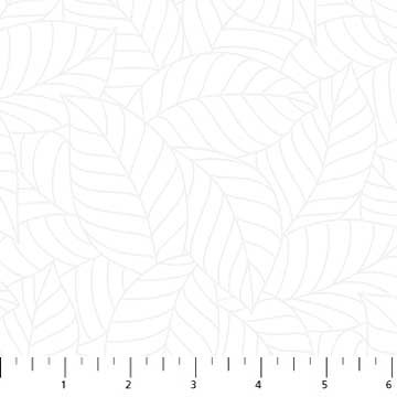 Simply Neutral White Packed Tonal Leaves 22140-10