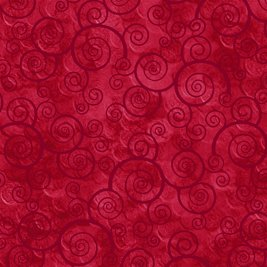 Harmony Cotton Curly Scroll Red 24778-R