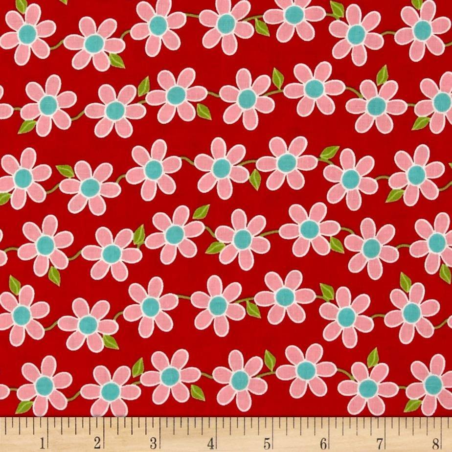 Bugsy Floral Allover Red 2629003