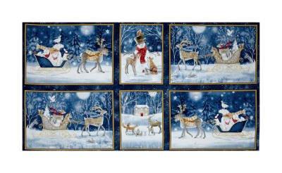 Woodland Dream Vignette Patches Dk Blue 26474-N