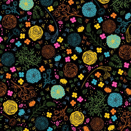 Fly Free-Floral Black 27086 J