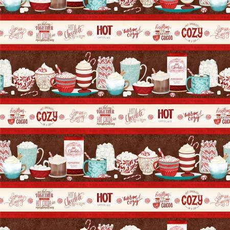 Multi Cuppa Cocoa Repeating Stripe 2751-231