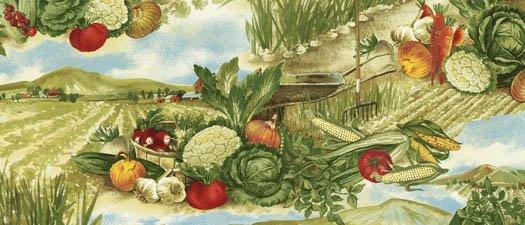 Country Fresh Allover Vegetables Multi 61306-9