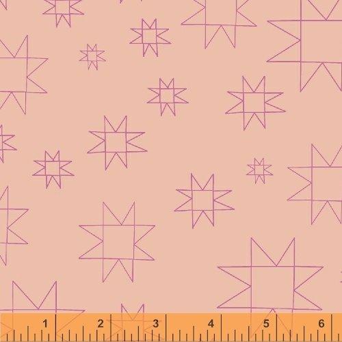 Daisy Chain Mono Quilt Blocks Peach 431307