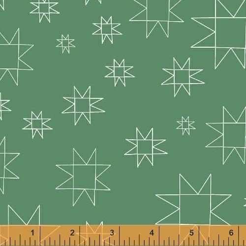 Daisy Chain Mono Quilt Blocks Green 431307