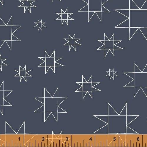 Daisy Chain Mono Quilt Blocks Slate 431308