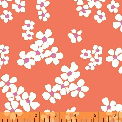 Daisy Chain Tossed Flower Coral 4313211
