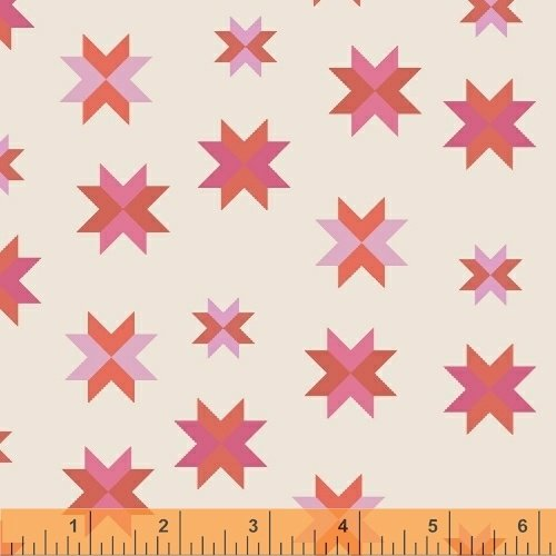 Daisy Chain Quilt Block Coral 4313311