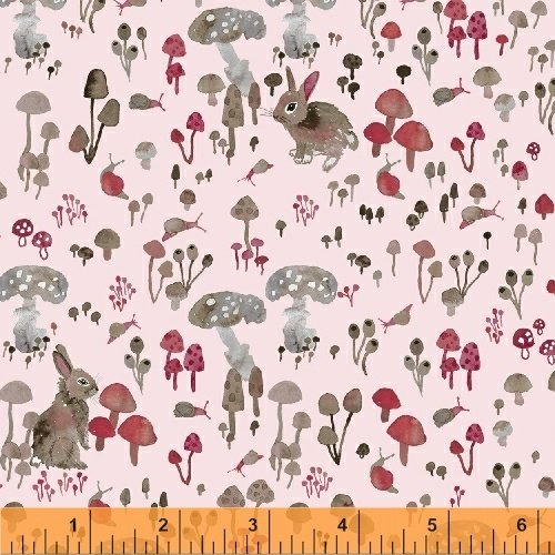 Enchanted Forest Mushroom Hideaway - Pale Pink 43500-4