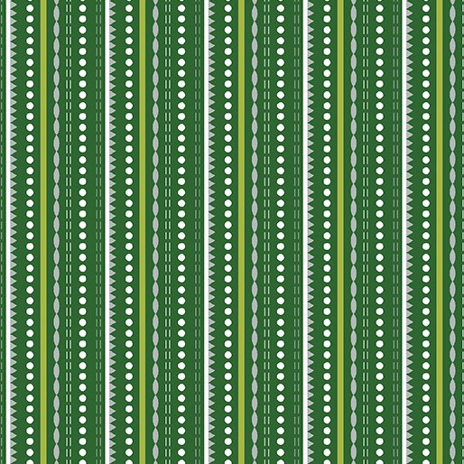 Let It Snow Dotted Stripe - Green 4582-44