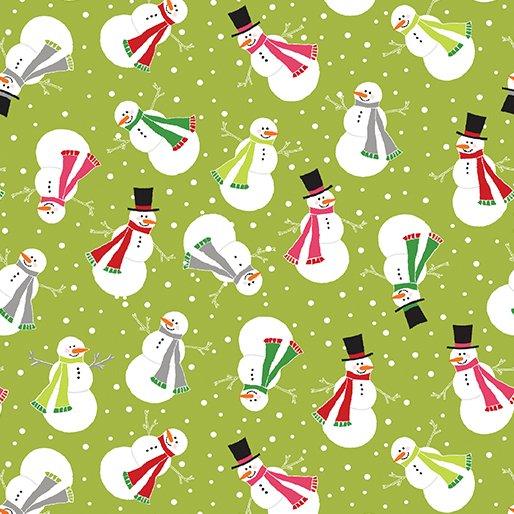 Let It Snow Joyful Snowman - Lime 4583-43