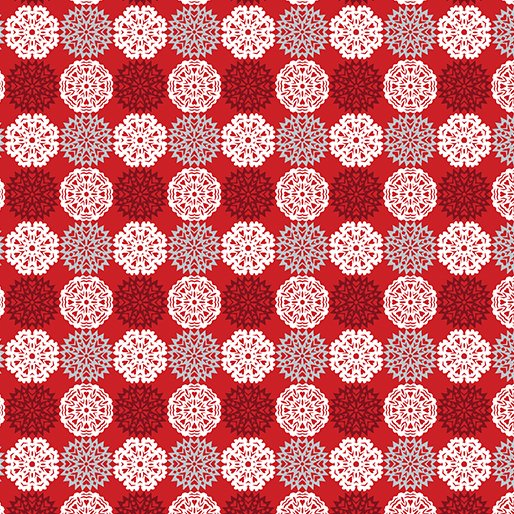 Let It Snow Paper Cut Flakes - Red 4586-10