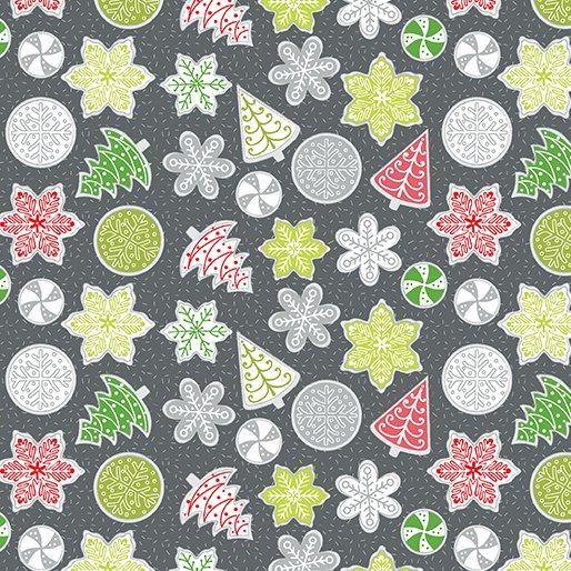 Let It Snow Cookies - Dark Gray/Multi 4589-11