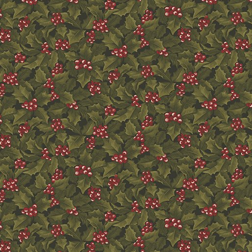 Holly and Berries - Green and Red 4655-10