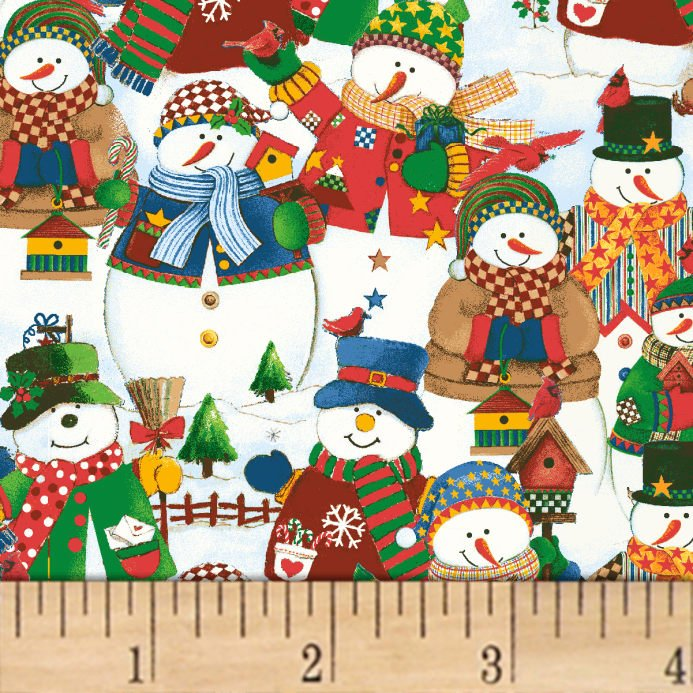 Winter Wishes Packed Snowmen Multi 50257-X