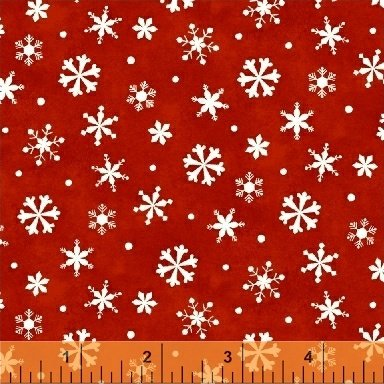 Winter Wishes Snowflakes Red 50260-3