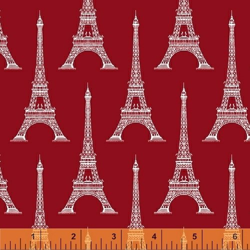 Love From Paris Eiffel Tower Red 50589-5
