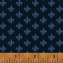 Love From Paris Fleur de Lis Navy 50591-4
