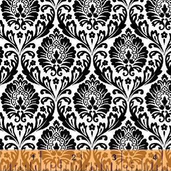 Love From Paris Damask Black/White 50592-6
