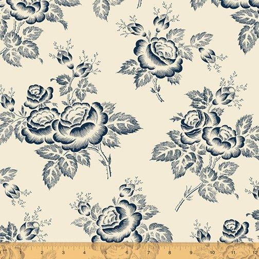 Abigail Blue Cream Large Floral 50874-2