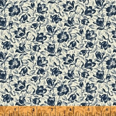 Abigail Blue Cream Packed Floral 50876-2