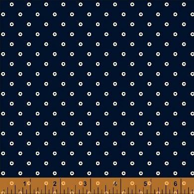 Abigail Blue Navy Circle Dot 50878-1