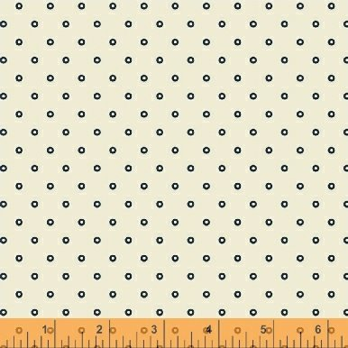 Abigail Blue Cream Circle Dot 50878-2