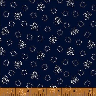 Abigail Blue Navy Geo Floral 50879-1