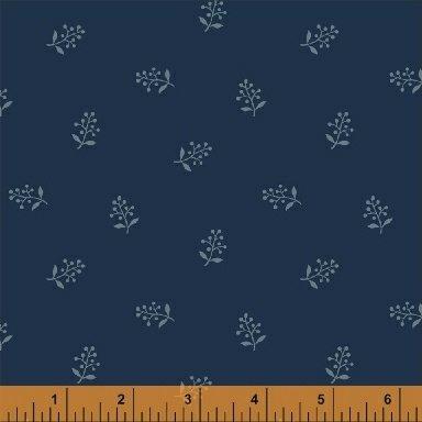 Abigail Blue Blue Flower Sprig 50880-3