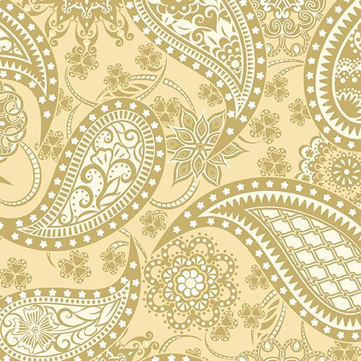 Jubilee 125th Paisley Wide Backing Cream/Gold 5490W33