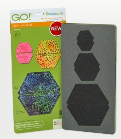 GO! Accuquilt Half Hexagon-1 1 1/2 2 1/2 Sides 55165