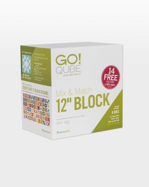 GO! Accuquilt Qube Mix & Match 12 Block 55778