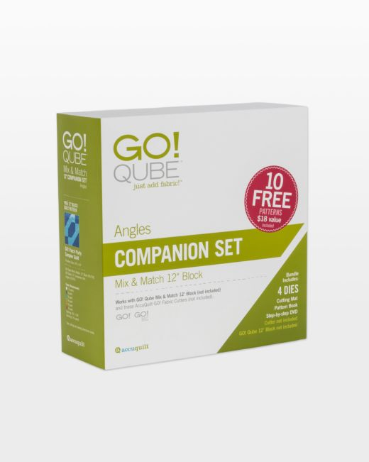 GO! Accuquilt Qube 12 Companion Set - Angles 55791