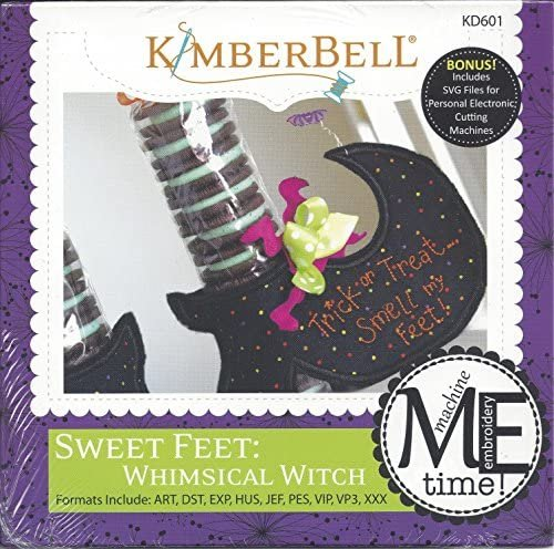 Sweet Feet: Whimsical Witch Machine Embroidery CD KD601