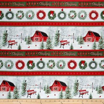 Holiday Wishes Border Stripe Multi 6932-88
