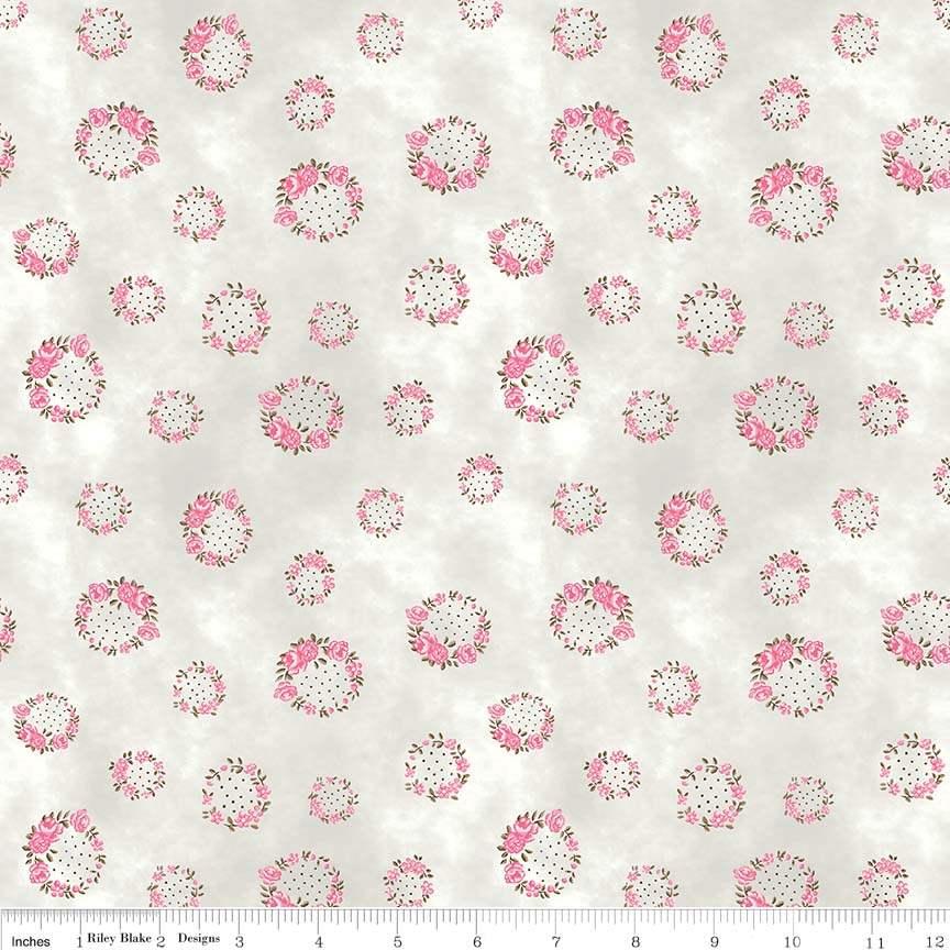 English Rose Wreath cream 6973CREAM