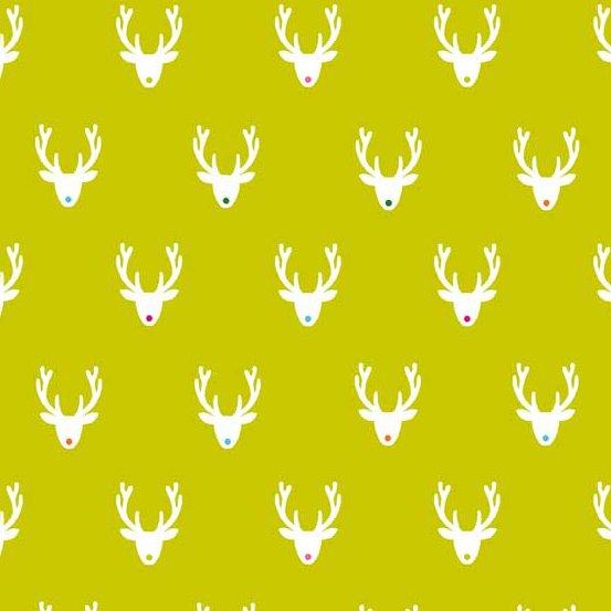 Joyeux Deer Antlers Lime Green TP-1984-G