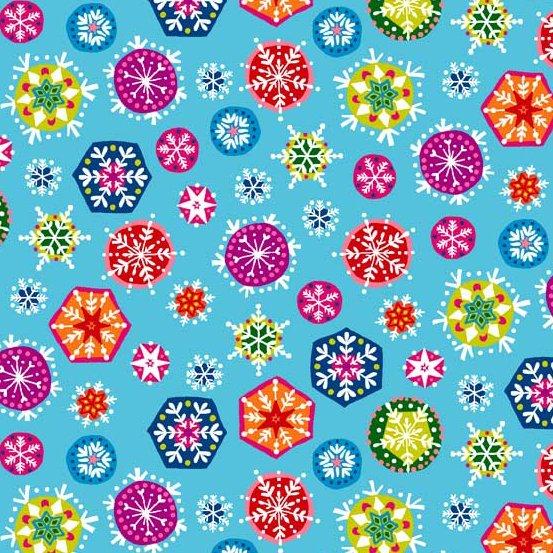 Joyeux Snowflakes Turq TP-1986-B4