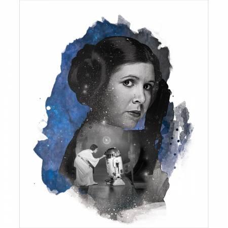 Star Wars Princess Leia Panel Blue  73010326P-1