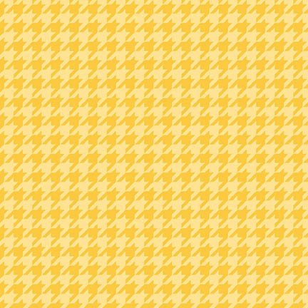 Lil' Sprout Flannel Too Houndstooth Yellow F8225S