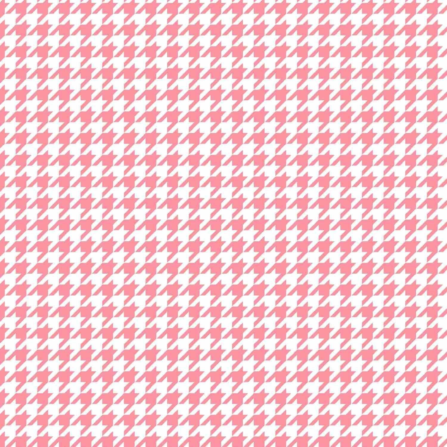 Lil' Sprout Flannel Too Houndstooth White/Pink F8225WP