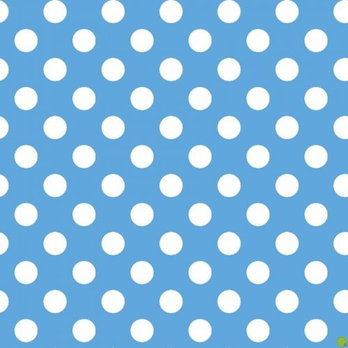 Lil' Sprout Flannel Too Dots Blue F8227BW