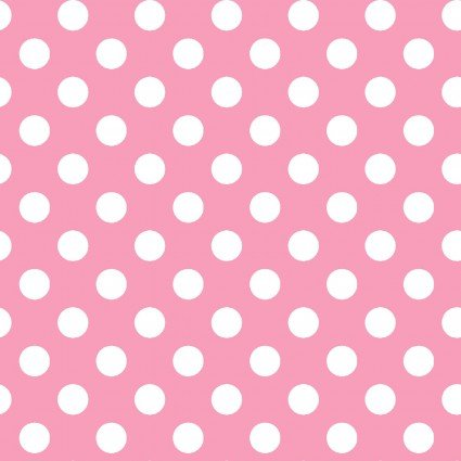 Lil' Sprout Flannel Too Dots Pink/White F8227PW