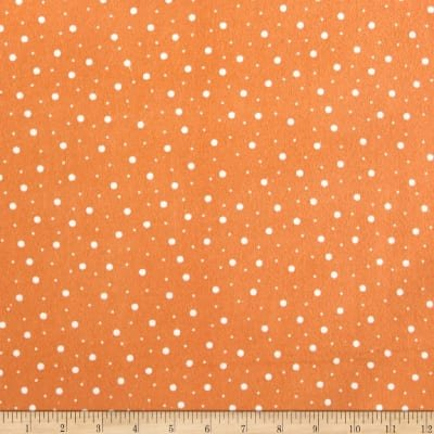 Lil' Sprout Flannel Too Random Dots Orange/White F8228OW